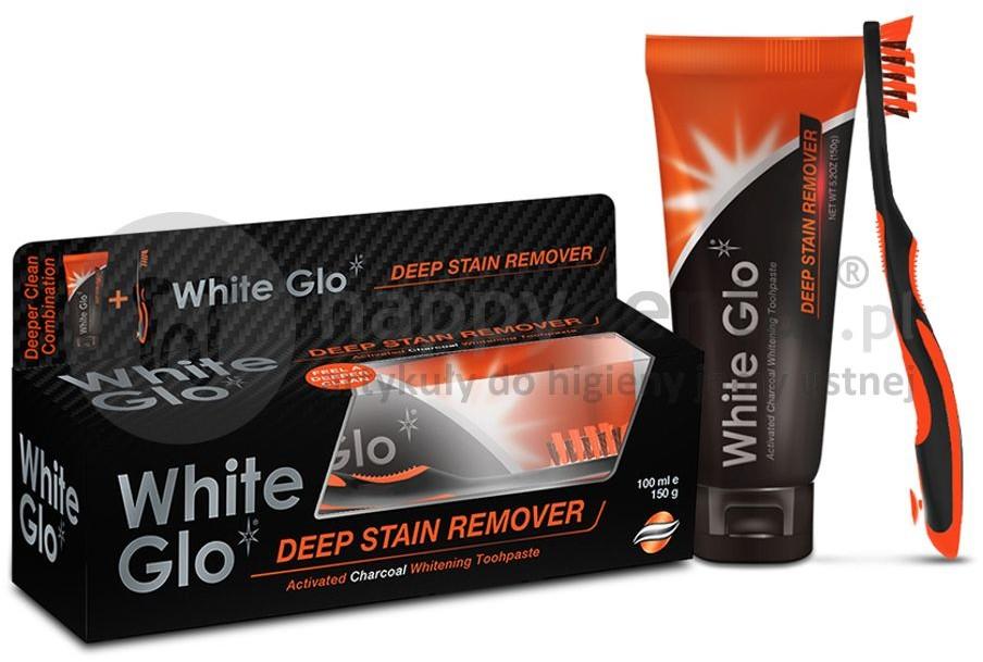 White Glo Barros Laboratories Pasta wybielająca do zębów z aktywnym węglem przywraca zębom naturalną biel