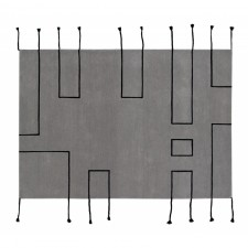 Opinie o Lorena Canals Dywan Wool Rug Nordic Lines Light Grey Natural jasny szary W-NORDIC-LGR