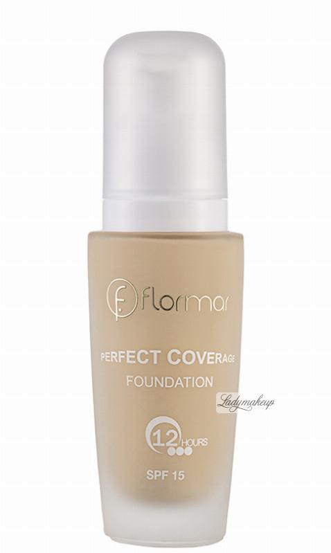 Flormar PERFECT COVERAGE FOUNDATION - Kryjący podkład do twarzy - 123 FLOCKDTW-DOTW-09