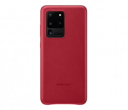Samsung Leather Cover do Galaxy S20 Ultra Red