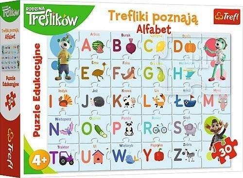 Trefl Puzzle Edukacyjne Trefliki poznają alfabet