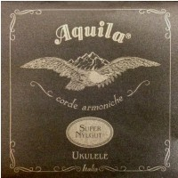 Aquila Super Nylgut struny do ukulele GCEA Concert wound low-G