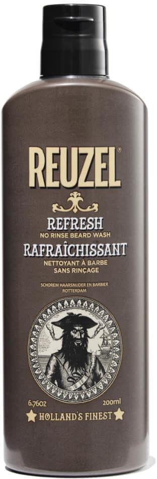Reuzel Reuzel Beard Refresh No Rinse Suchy szampon odświeżający do brody i wąsów dla mężczyzn 200ml 17162