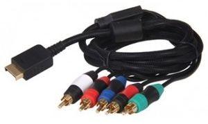 Kabel Component AV Audio Video do Sony PlayStation 3 PS3 (czarny)