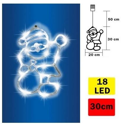 FK Technics LED Dekoracja do okna Santa Claus 18xLED/3x1,5AA
