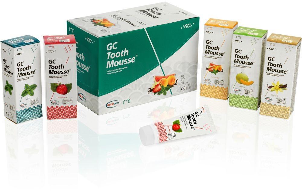 GC Corporation Tooth Mousse 35ml HappySET (DWUPAK) - ochronna pasta o potrójnym działaniu - wzmacnia, ochrania i uzupełnia (płynne szkliwo) HappySET
