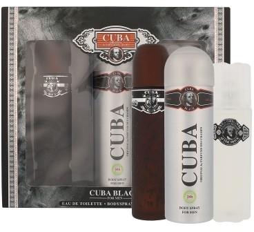 Cuba Black zestaw Edt 100ml + 100ml Woda po goleniu + 200ml deodorant dla mężczyzn