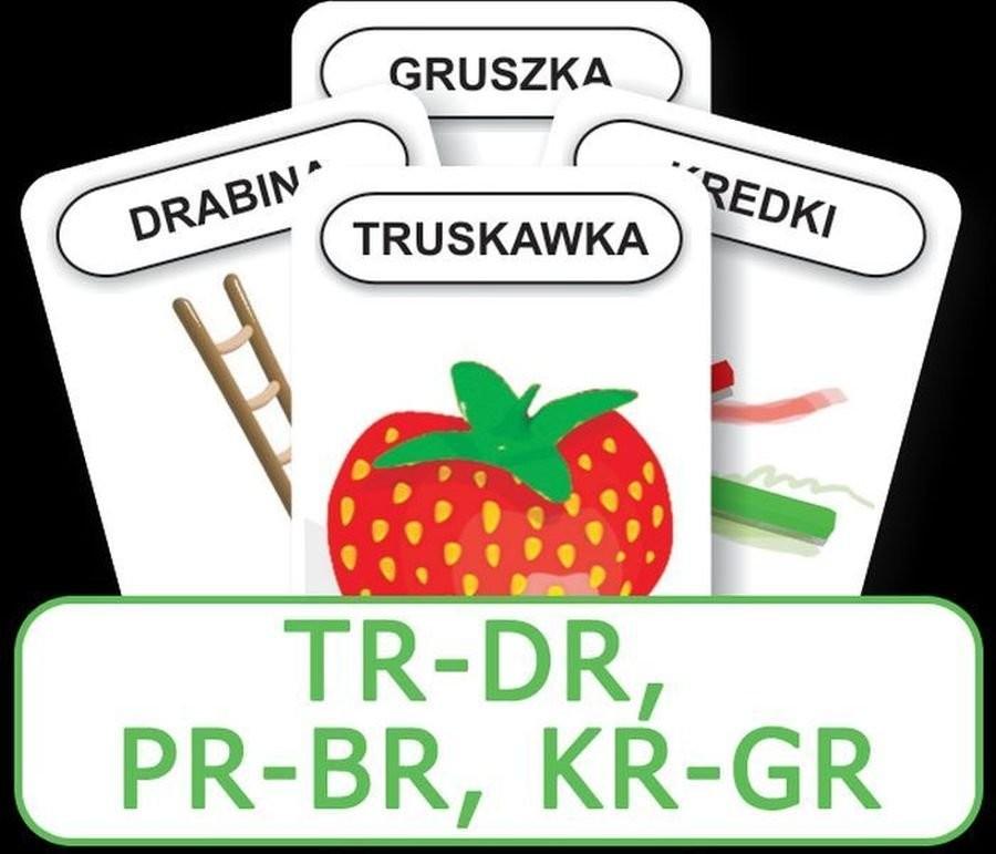 Komlogo Komlogo, karty Logopedyczny Piotruś Część XIV: głoski TR-DR, PR-BR, KR-GR