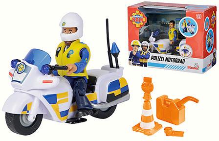 Strażak Sam motor policyjny z figurką