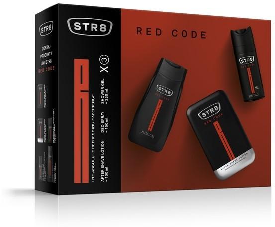 STR8 Red Code Zestaw prezentowy dezodorant spray 150ml+żel pod prysznic 250ml+płyn po goleniu100ml) 500ml