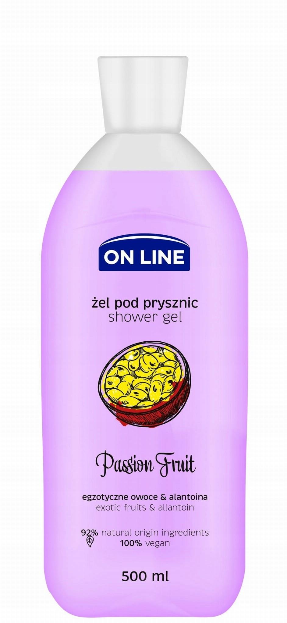 On Line Żel pod prysznic Passion Fruit 500ml