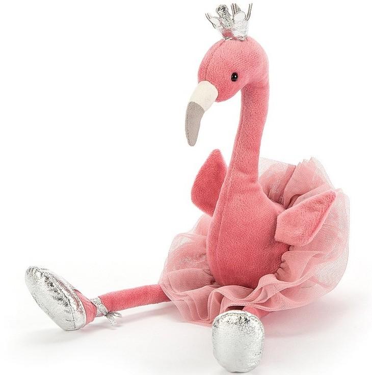 Jellycat przytulanka flaming w koronie Fancy Flamingo 34 cm