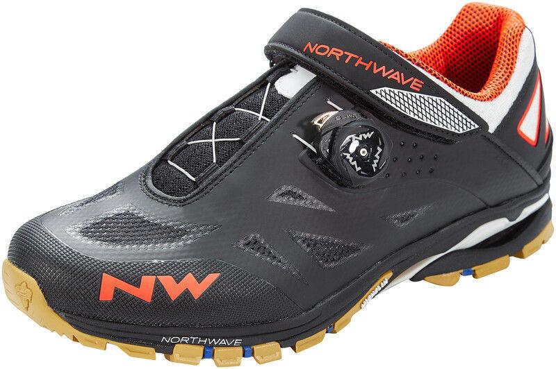 Northwave Spider Plus 2 Buty Mężczyźni, black/off white/orange EU 44 2020 Buty MTB zatrzaskowe 80153008-64-44