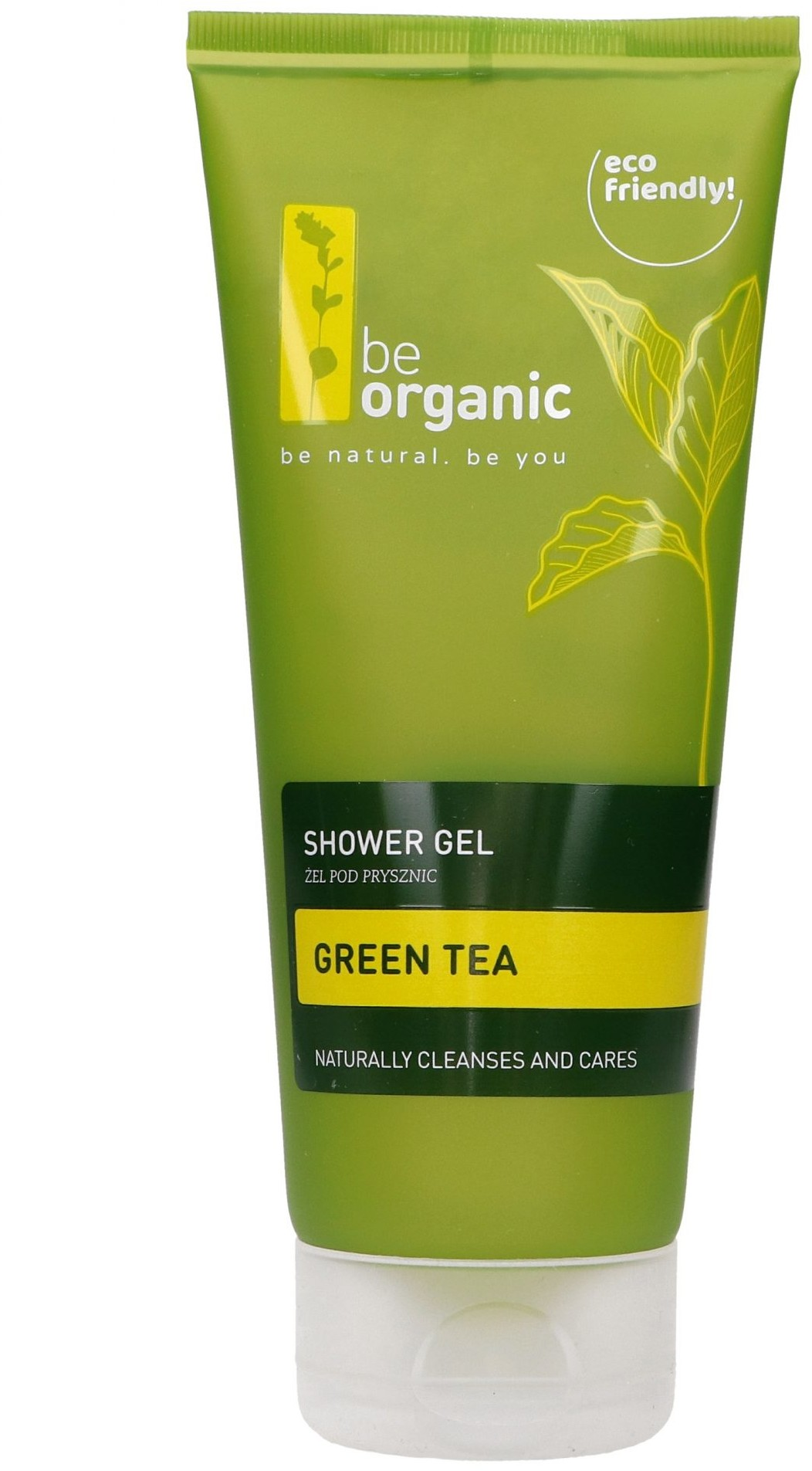 Organic Be BeOrganic, Żel pod prysznic, zielona herbata, 200ml 5905279400344
