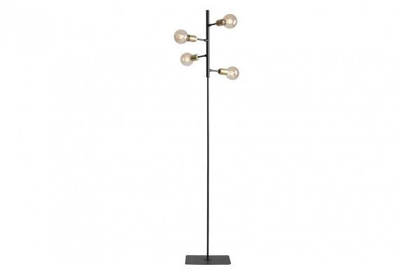 Aldex Lampa podłogowa BOLANZO 958A czarno-mosiężna poczwórna oprawa w dekoracyjnym stylu 958A