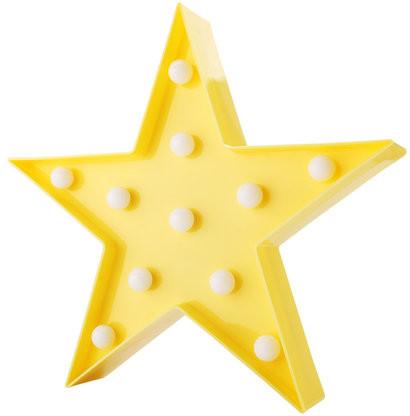 Pozostali Lampka Dekoracyjna LED Gwiazda żółta