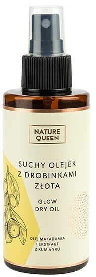 NATURE QUEEN Nature queen suchy olejek z drobinkami złota 150ml