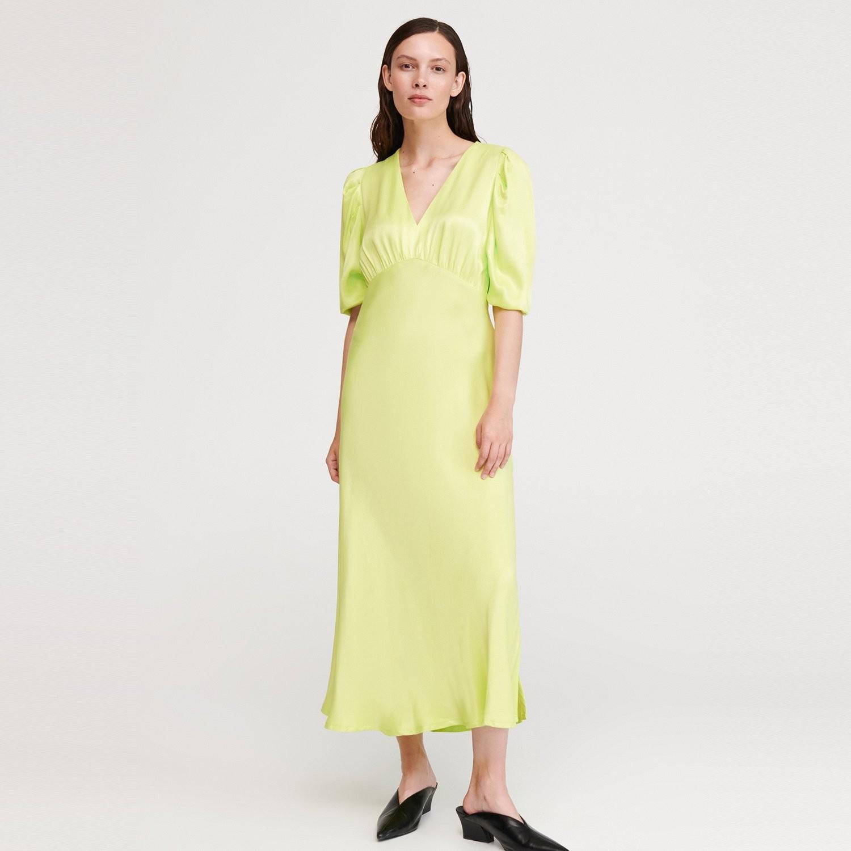 Reserved Sukienka o satynowym połysku - Zielony