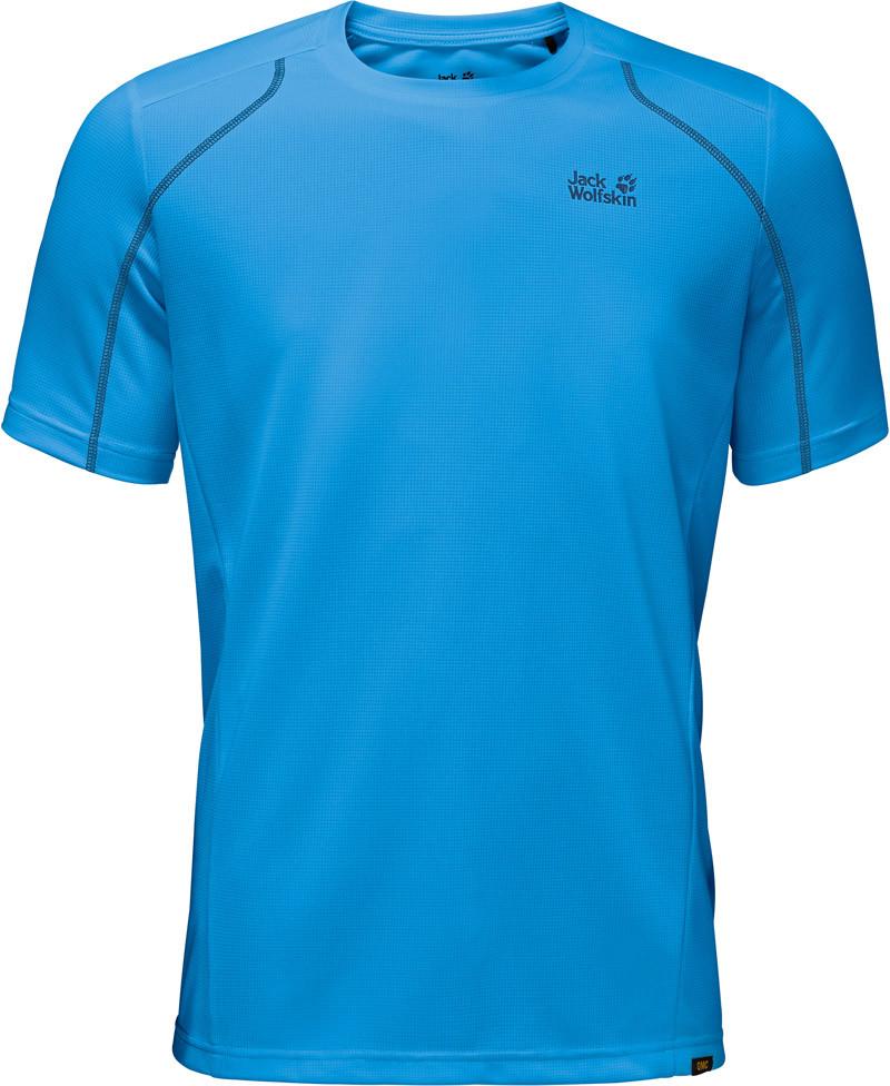 Jack Wolfskin Koszula HELIUM CHILL T-SHIRT M ocean blue