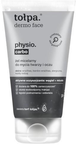 Tołpa Tołpa Dermo Face Physio. Carbo żel micelarny do mycia twarzy i oczu 150 ml 1140117