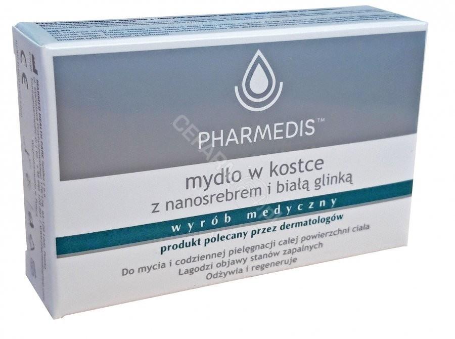 MARMED HEALTH CARE Pharmedis mydło w kostce z nanosrebrem i białą glinką 100 g | DARMOWA DOSTAWA OD 199 PLN!