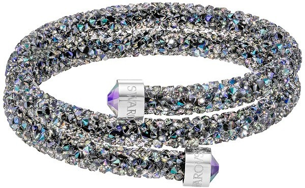 Swarovski Crystaldust Double Bangle, Purple Purple Stainless steel
