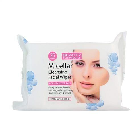 Beauty Formulas BEAUTY FORMULAS_Micellar Cleansing Facial Wipes oczyszczające chusteczki micelarne do demakijażu 25szt