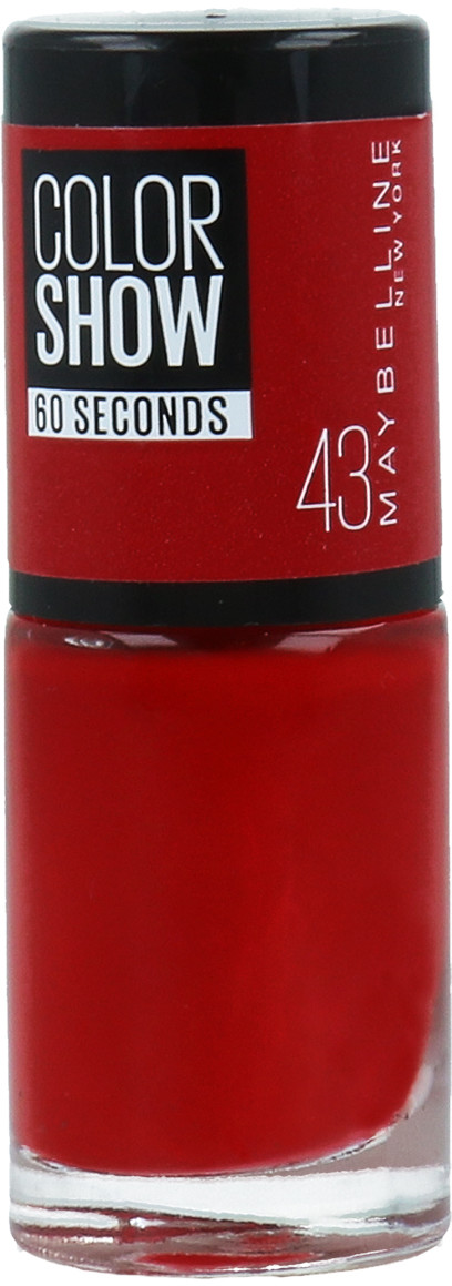 Maybelline Color Show Seria 60 Seconds Lakier Do Paznokci 43 Red Apple 30137424
