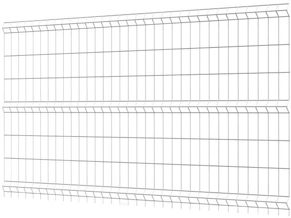Polargos Panel ogrodzeniowy N1 Eco 1,53 x 2,5 m oczko 7,5 x 20 cm ocynk