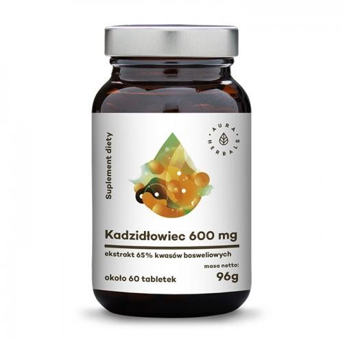 Aura Herbals Kadzidłowiec 600mg (65% Boswellia Ekstrakt ) tabletki 60 szt (96g) K600MG