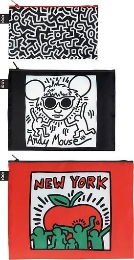 Loqi Saszetki Zip Pockets Keith Haring 3 szt. ZP.KH.NY