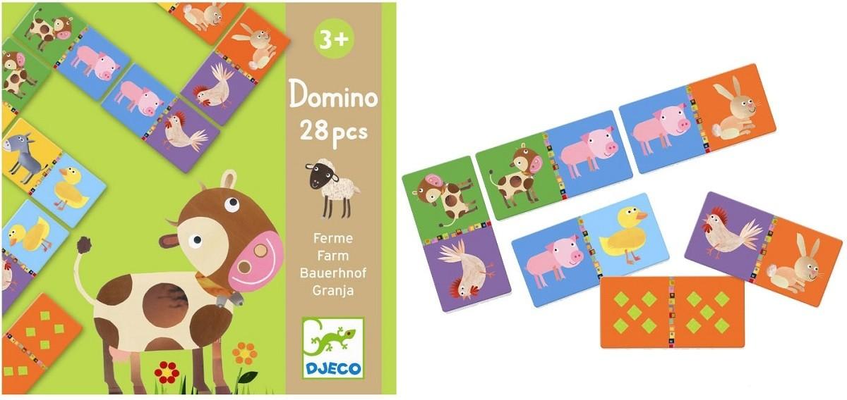Djeco FARMA domino z liczbami DJ08158