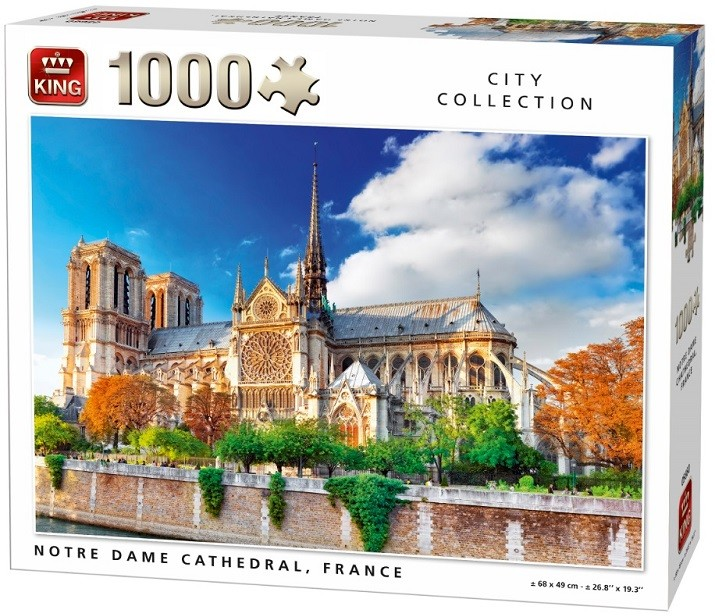 King 22-005660 Puzzle Katedra Notre Dame