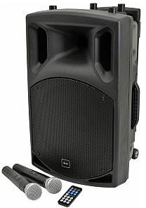 QTXsound QX12PA-plus nagłośnienie przenośne, kolumna mobilna, portable PA unit UHF + USB/SD/FM/BT 178.854UK