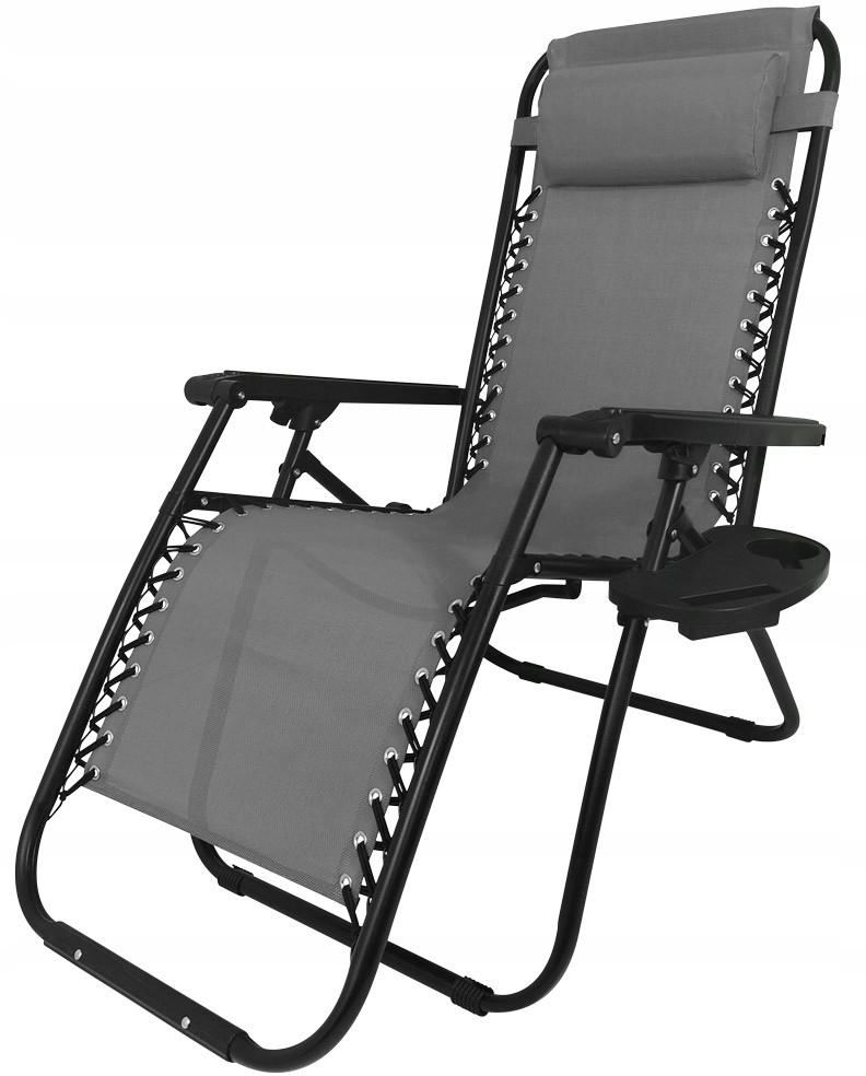 Leżak Ogrodowy Fotel Plażowy Zero Gravity Składany