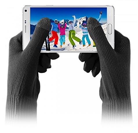 Puro PURO touchglovesblksm rękawiczki do smartfonów, rozmiar S/M TOUCHGLOVESBLKSM