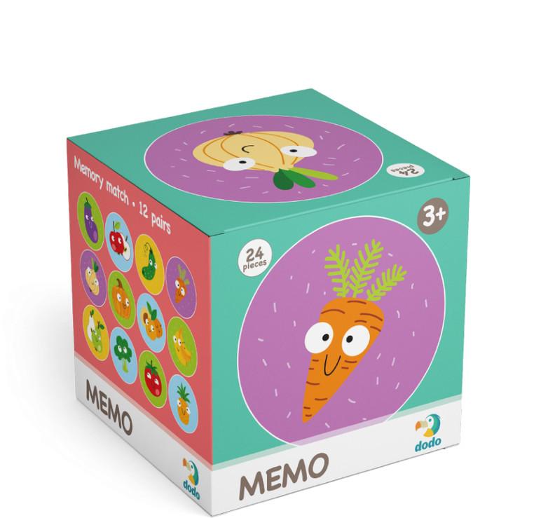 TM Toys DODO Minigra memory Warzywa i owoce