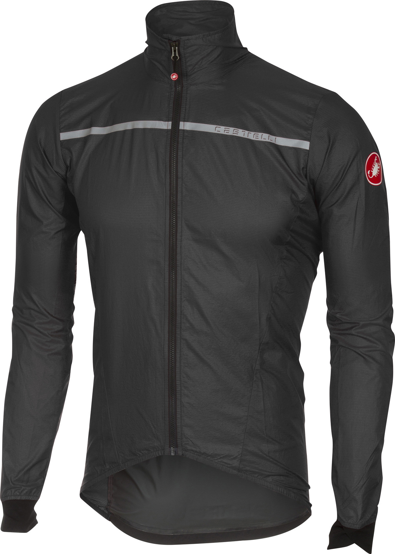 Castelli kurtka kolarska męska Superleggera Jacket anthracite/yellow XXL