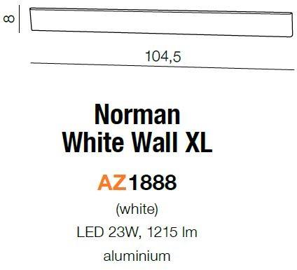 Azzardo Lampa ścienna NORMAN XL AZ1888 AZ1888