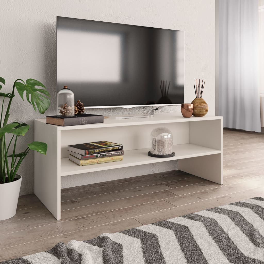 vidaXL vidaXL Szafka pod TV, biała, 100 x 40 x 40 cm, płyta wiórowa