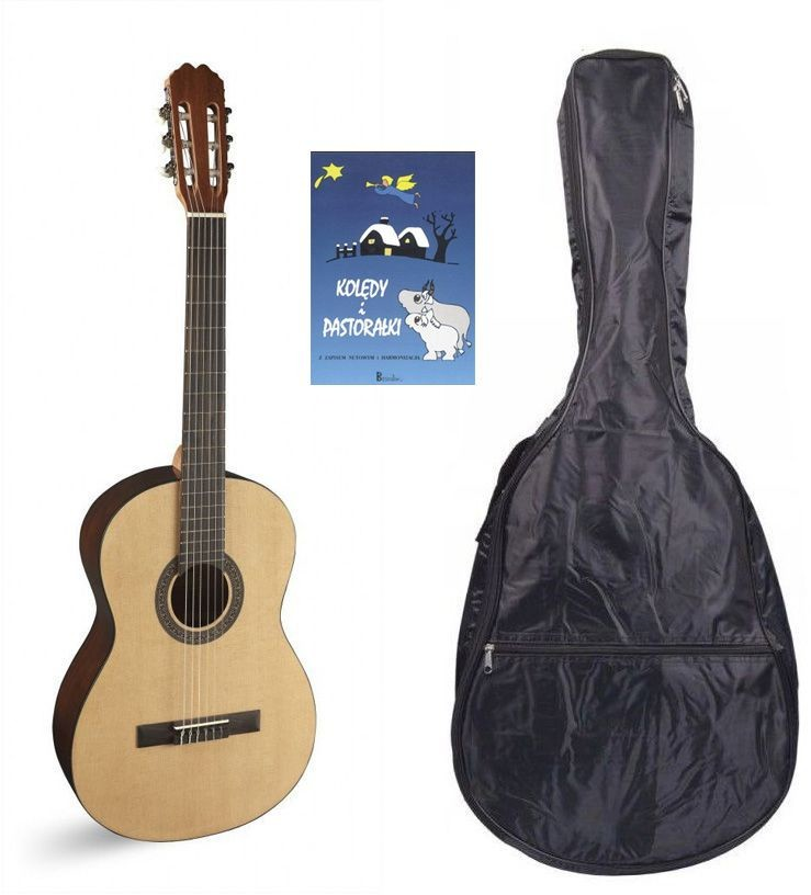 Alvaro 29 - gitara klasyczna + pokrowiec + kolędy