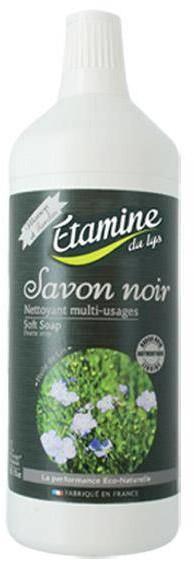 Savon Noir Etamine du Lys Etamine du Lys, Skoncentrowane Czarne Mydło z Olejem Lnianym i Oliwą z Oliwek do Mycia i Pielęgnacji Wszystkich Powierzchni Bezzapachowe, 1000 ml