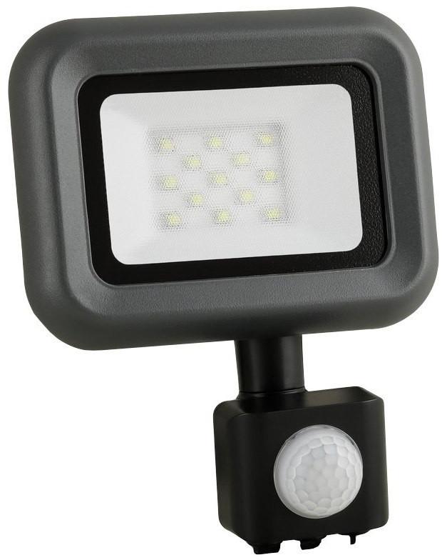 Anlux Naświetlacz LED z czujnikiem ruchu HELI 10W Czarny A LED-NL-HELI-S-10W-NW