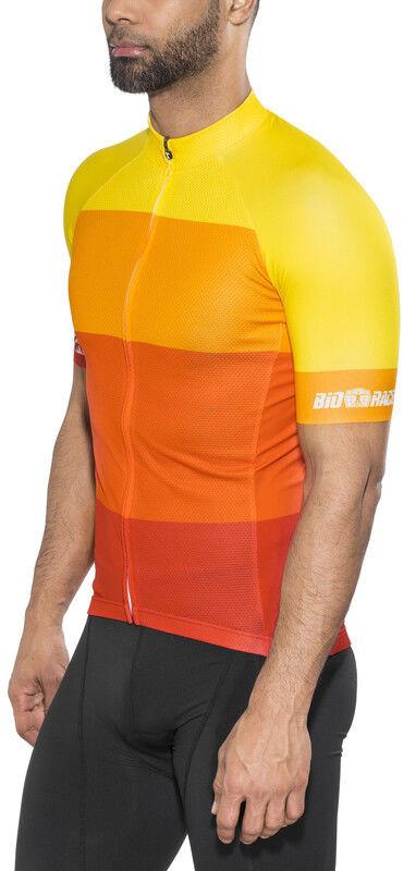 Red cycling products Red Cycling Products Colorblock Race Koszulka rowerowa z zamkiem błyskawicznym Mężczyźni, red-yellow S 2020 Koszulki kolarskie CO_IS51340-18-001987 -S