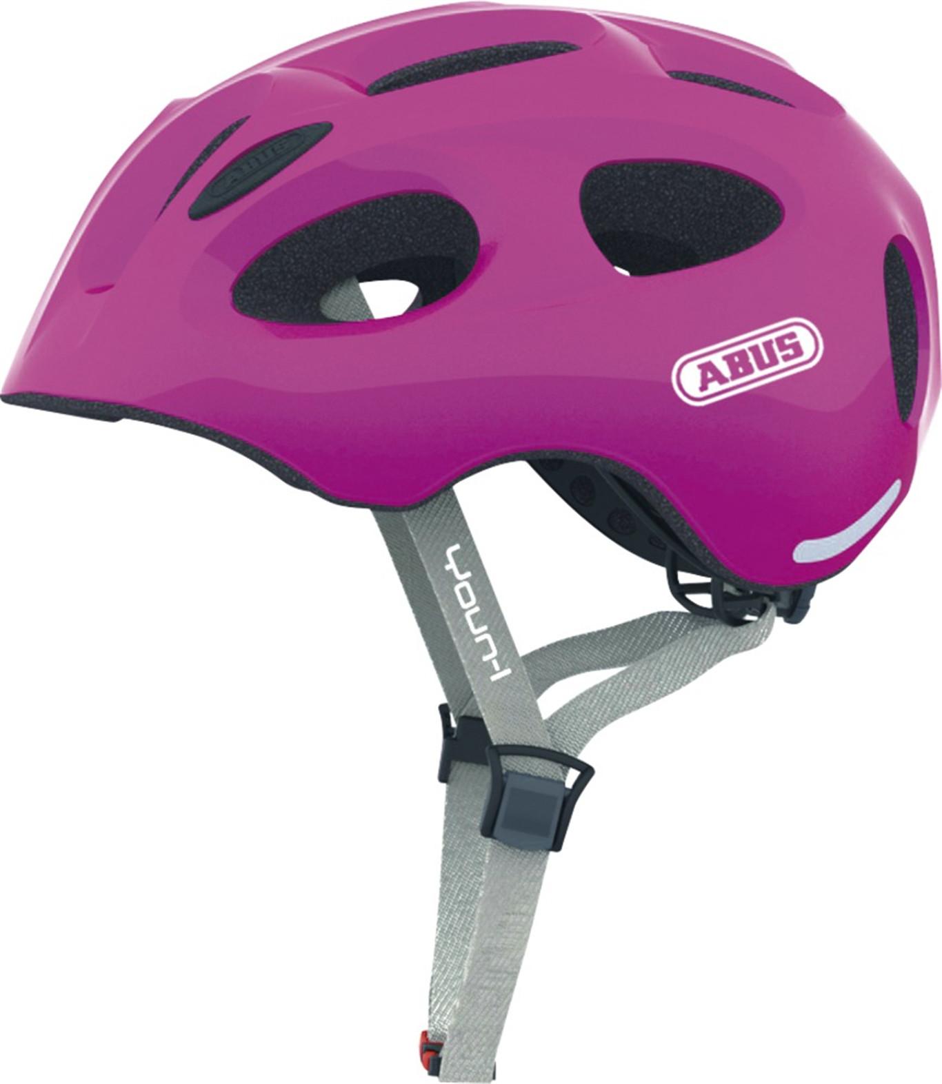 Abus Youn-I 12836-3 Kask Rowerowy, Różowy (Sparkling Pink), 4854 Cm