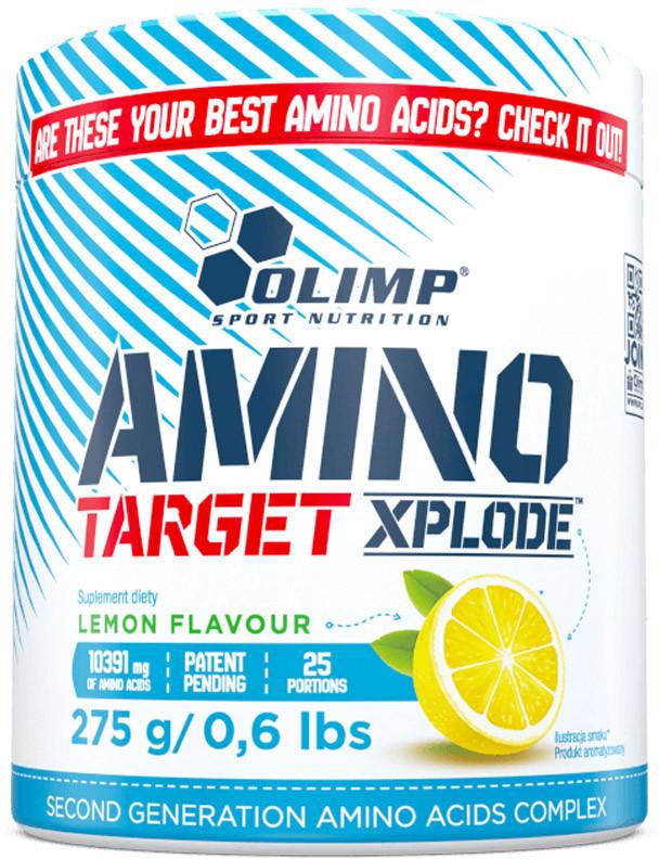 Olimp Amino Target Xplode (Kompleks Aminokwasów, Regeneracja) 275g Cytryna
