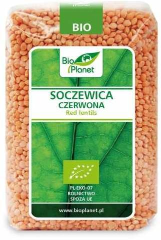 Bio Planet SERIA ZIELONA SOCZEWICA CZERWONA BIO 500 g -