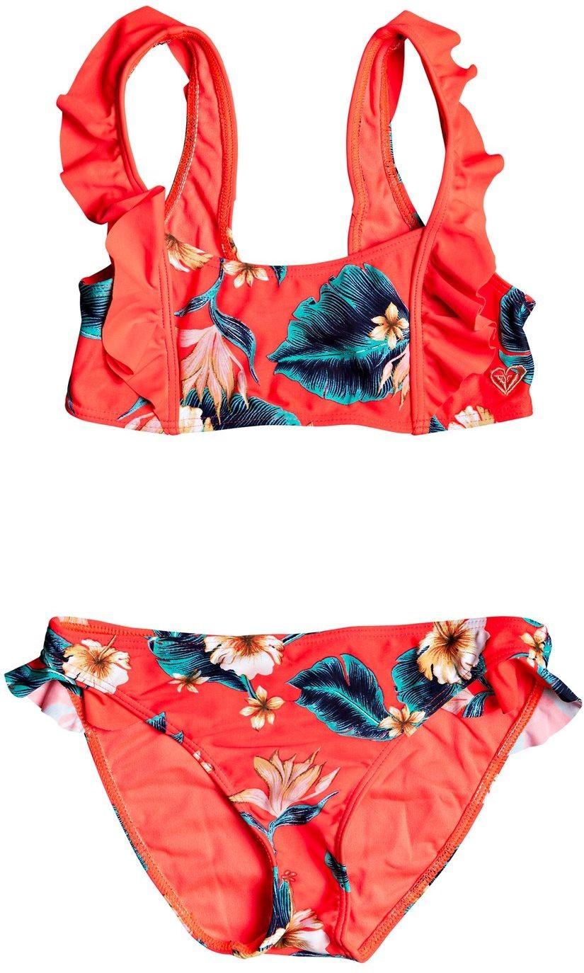 Roxy dwuczęściowy strój kąpielowy dla YOUTH SEASIDE LOVER F Coral N Tropical Love RG Sw XMMB
