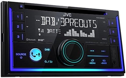 JVC KW-db93bt z podwójnym DIN CD-Receiver radio cyfrowe (DAB +), zestaw głośnomówiący Bluetooth i przesyłania strumieniowego dźwięku z czarnym KW-DB93BT