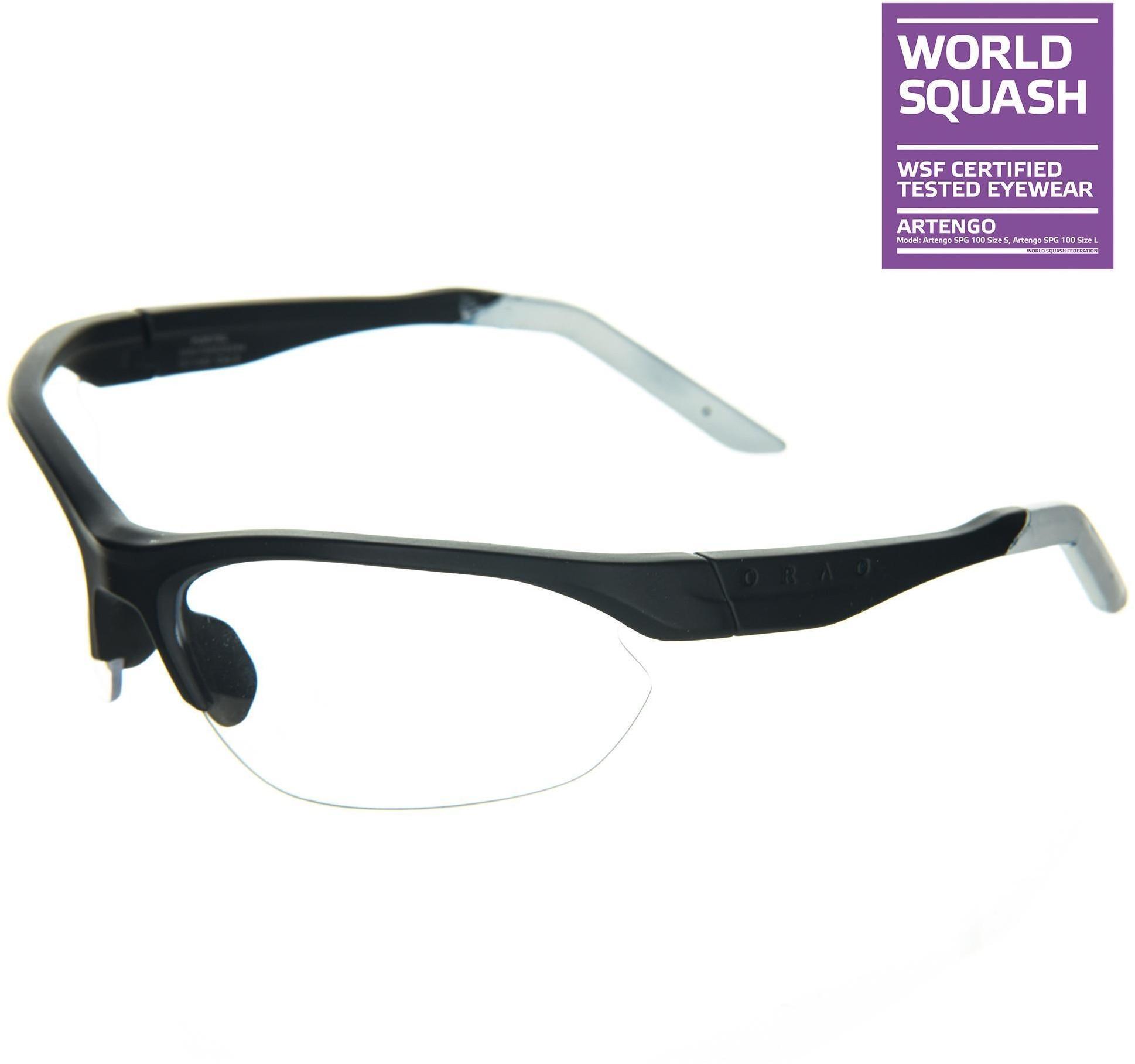 OPFEEL Okulary do squasha rozmiar L na szeroką/dużą twarz unisex